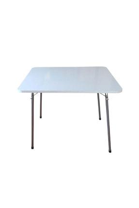 Navis Home Katlanır Masa Balkon Bahçe Masası Mutfak Masası 60x80 -beyaz