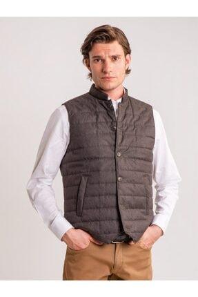 Dufy Erkek Vizon Kapitone Düğme Slım Fıt Detaylı Kısa Kol Dış Giyim