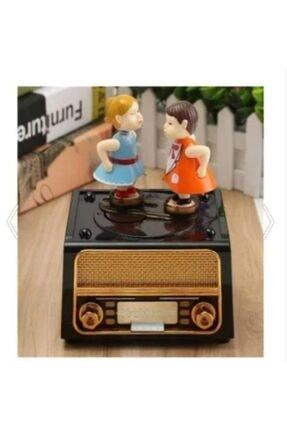 MOBGİFT Nostaljik Radyo Görünümlü Öpüşen Çift Müzik Kutusu