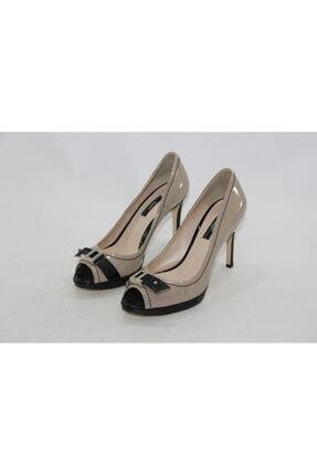 İnci Kadın Bej Hakiki Deri Topuklu Ayakkabı