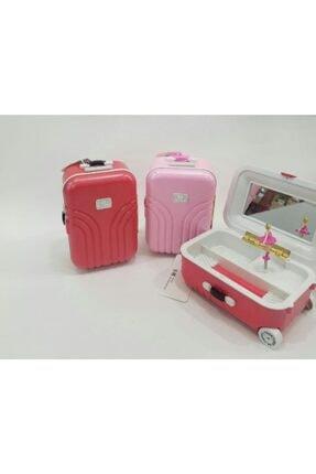rennway Pembe Bavul Tasarımlı Müzik Ve Takı Kutusu