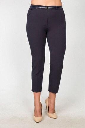 Womenice Kadın Lacivert Yüksek Bel Klasik Kumaş Pantolon