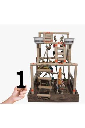 DDPEST Papağan Tüneği Oyun Alanı Papağan Oyuncak Tünek 1