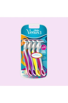 Gillette Venüs 3 Tek Kullanımlık Kadın Traş Bıçağı 4 Lü
