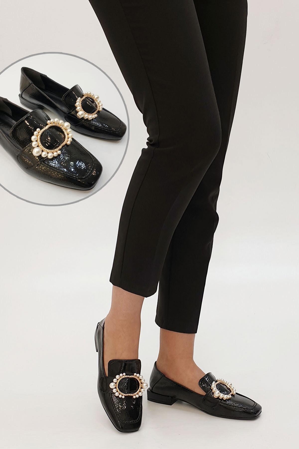 Marjin Siyah Rugan Siyah Rugan Rezva Klasik Ayakkabı Günlük Ayakkabı 20K00149006