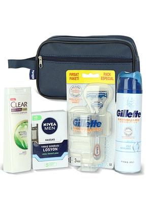 Gillette Erkek Cilt Bakım Seti + Clear Şampuan 180 Ml + Nivea Tıraş Sonrası Losyon 100 Ml