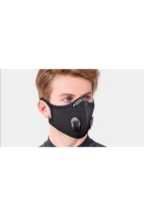 Wedo Unisex Siyah Aktif Karbon Filtreli Bisikletçi Sporcu Maskesi