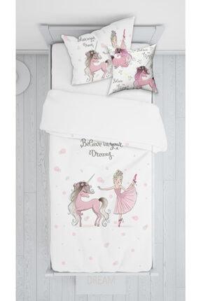halımarkt Balerin Unicorn Yatak Örtüsü Takımı E050