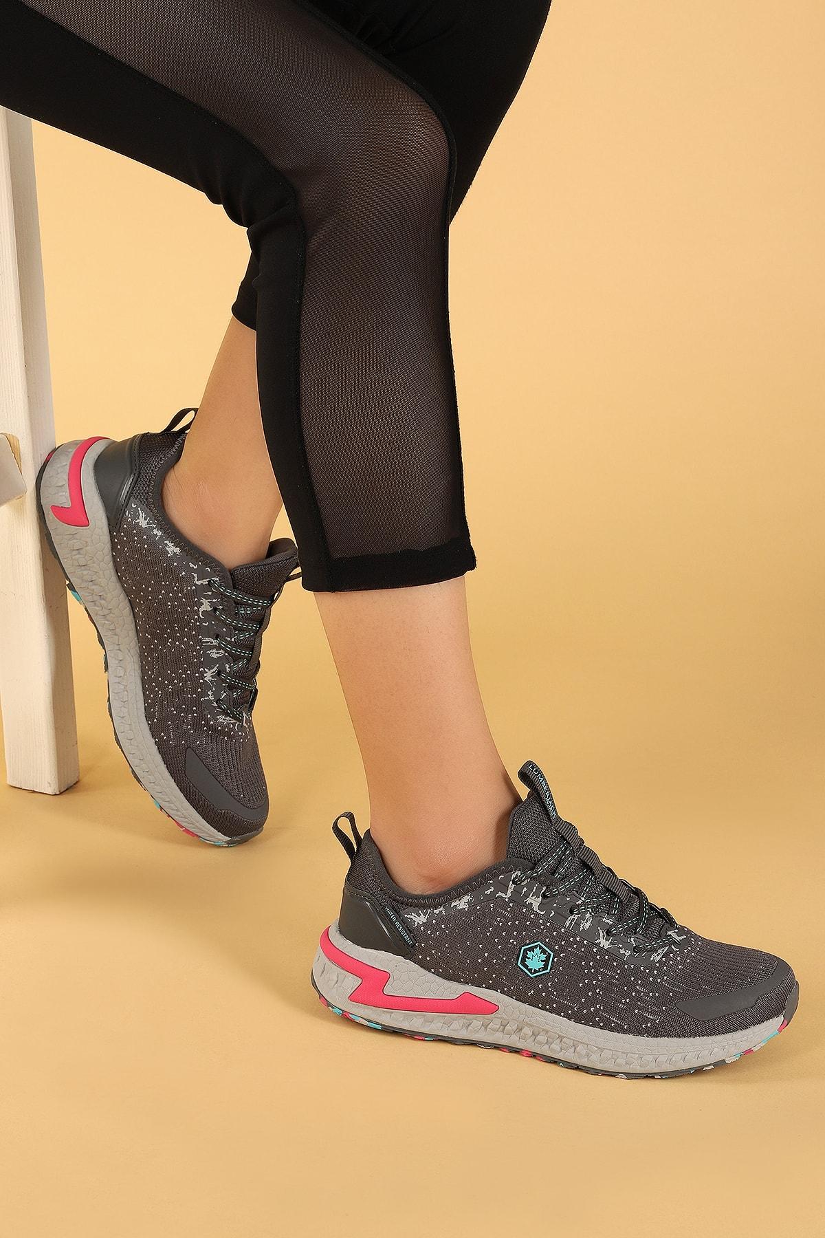 lumberjack Ocean Günlük Suya Dayanıklı Kadın Gri Spor Ayakkabı 1
