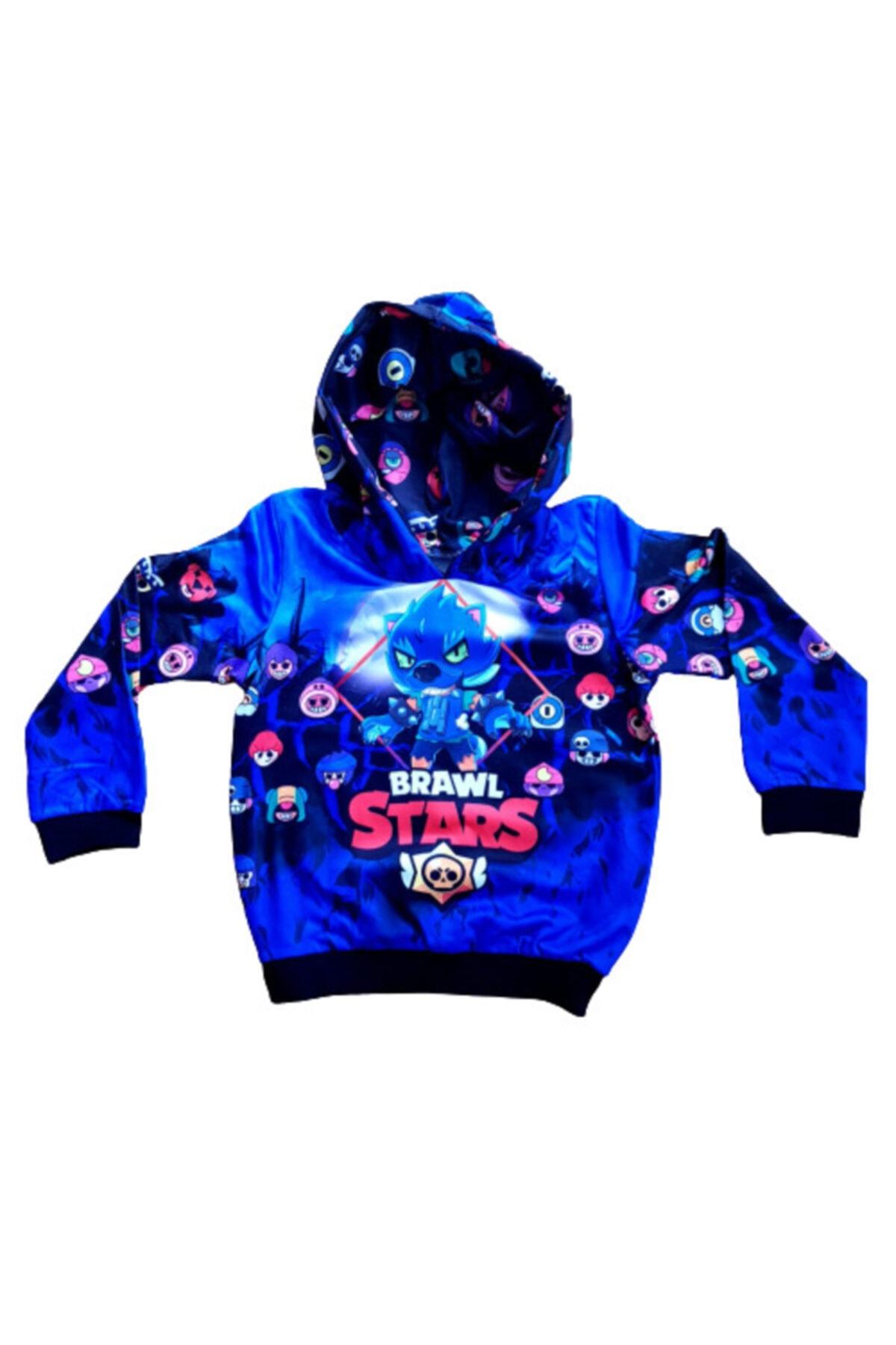 BRAWL STARS Unisex Çocuk Sax Mavisi Sweatshirt 1