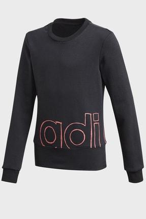 adidas Kız Çocuk Siyah Sweatshirt Yg Logo Crew Gd6338