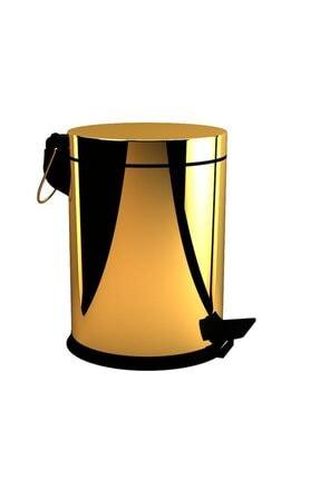 Cekinox Defne Banyo Gold Çöp Kovası 5 Litre