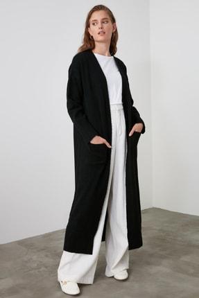 TRENDYOLMİLLA Siyah Uzun Triko Hırka TWOAW21HI0225