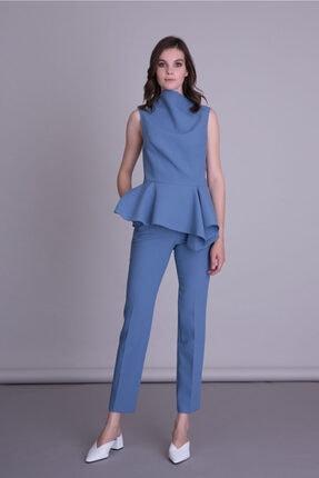 GIZIA CASUAL Kadın Mavi Kumaş Pantolon