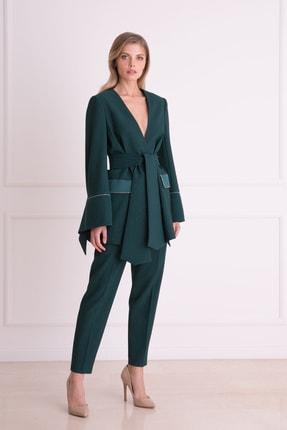 xGIZIA Kadın Yeşil  Sim DetaylıKumaş Pantolon
