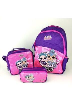 Dönmezler Lol Bebek Okul Çantası Set-çanta-beslenme- Mor-pembe Set