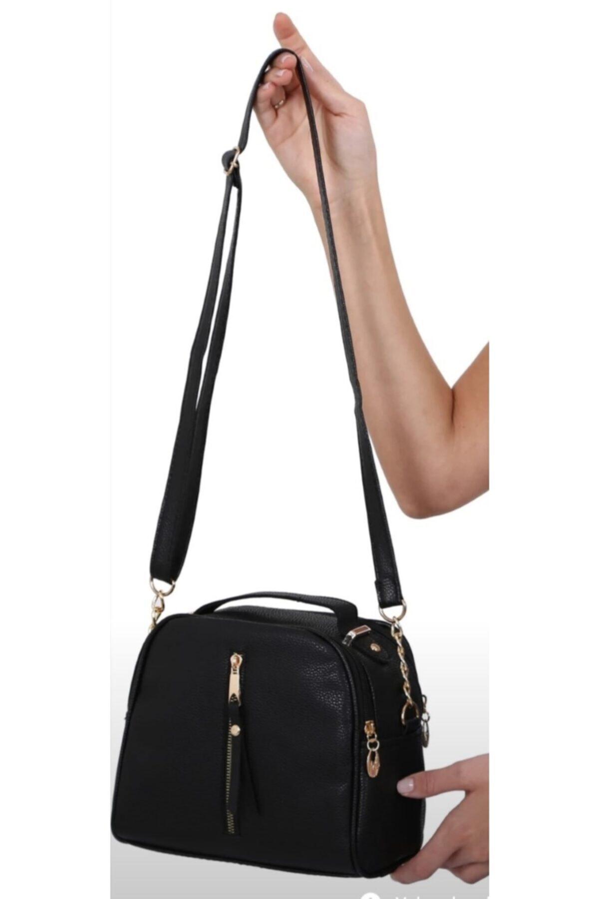 polozen Kadın Siyah Çapraz Çanta 1