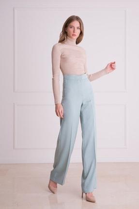xGIZIA Kadın Küf Yeşili Yüksek Bel Kumaş Pantolon