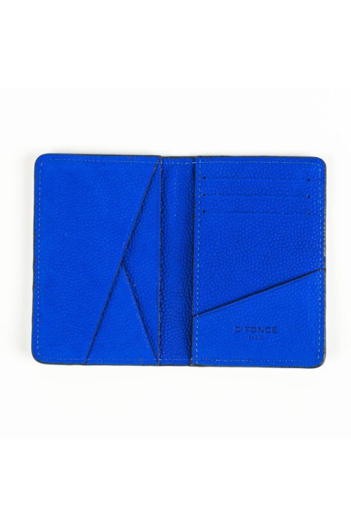 D'Foncé Erkek Mavi Dokulu Deri Cüzdan 1