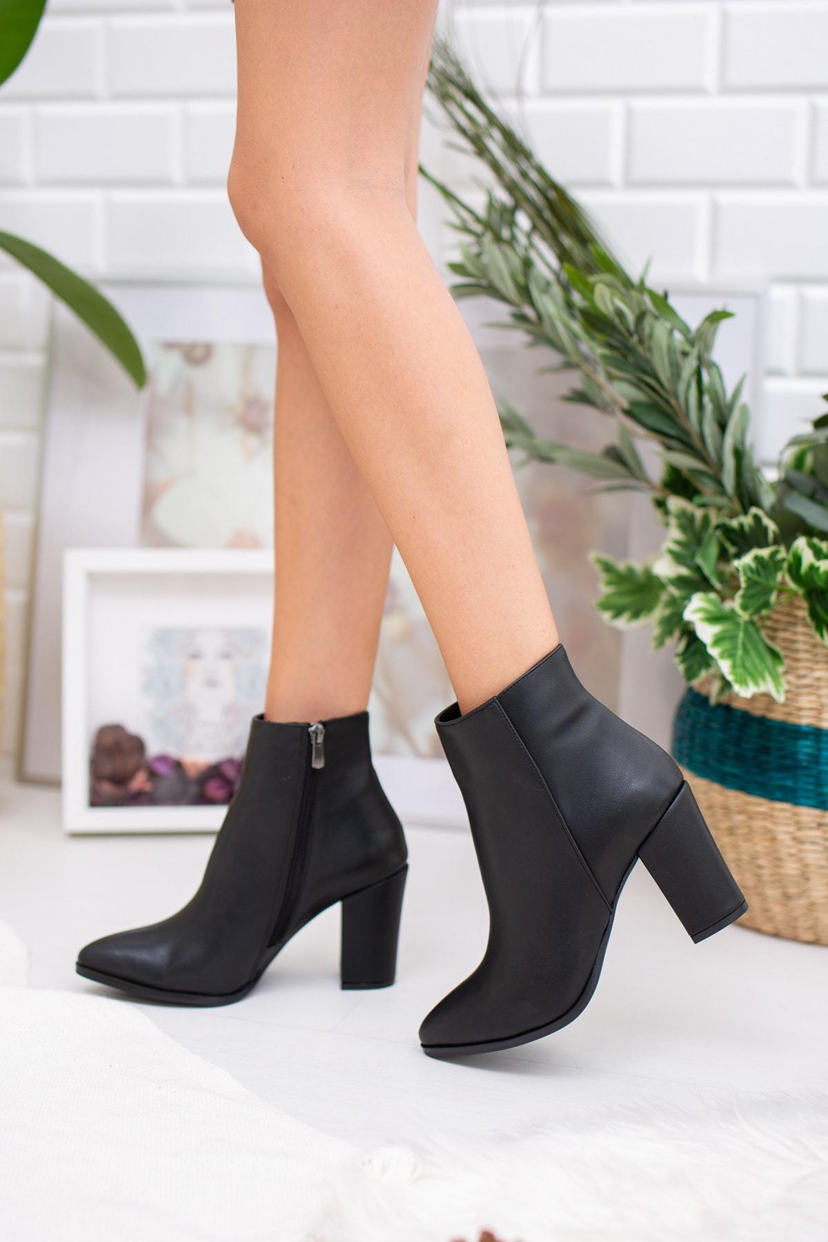 Diardi Kadın Siyah Topuklu Bot 1
