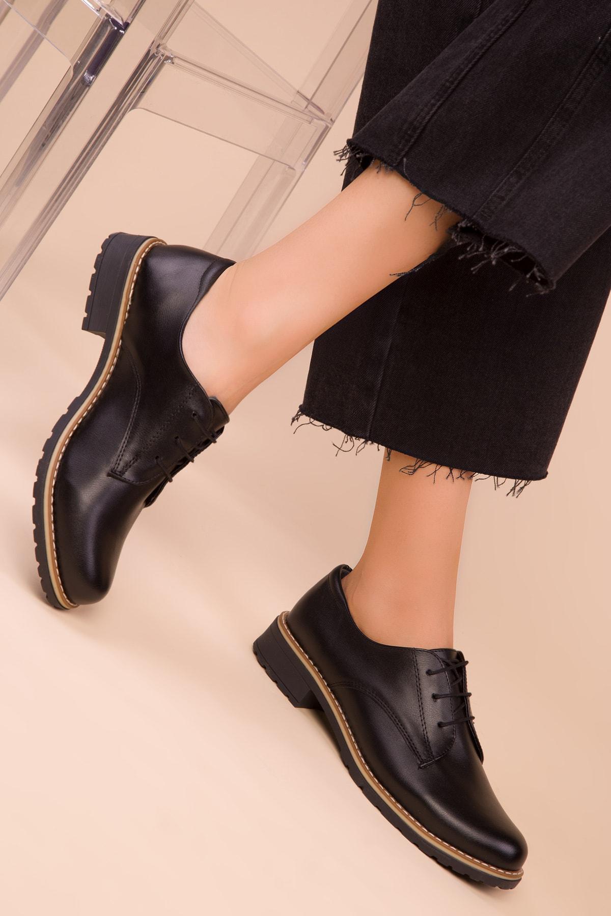 SOHO Siyah Kadın Casual Ayakkabı 15440 1