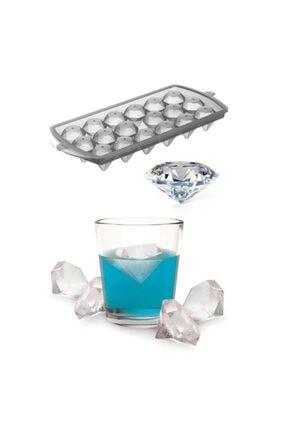 horussweetshop Diamond Elmas Şeklinde Buz Kalıbı 18 Bölmeli