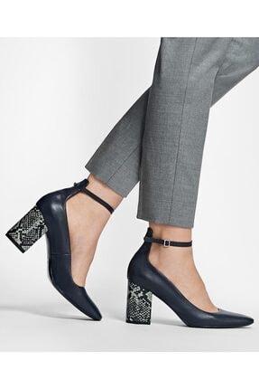 BROOKS BROTHERS Kadın Lacivert Bilekten Atkılı Topuklu Ayakkabı