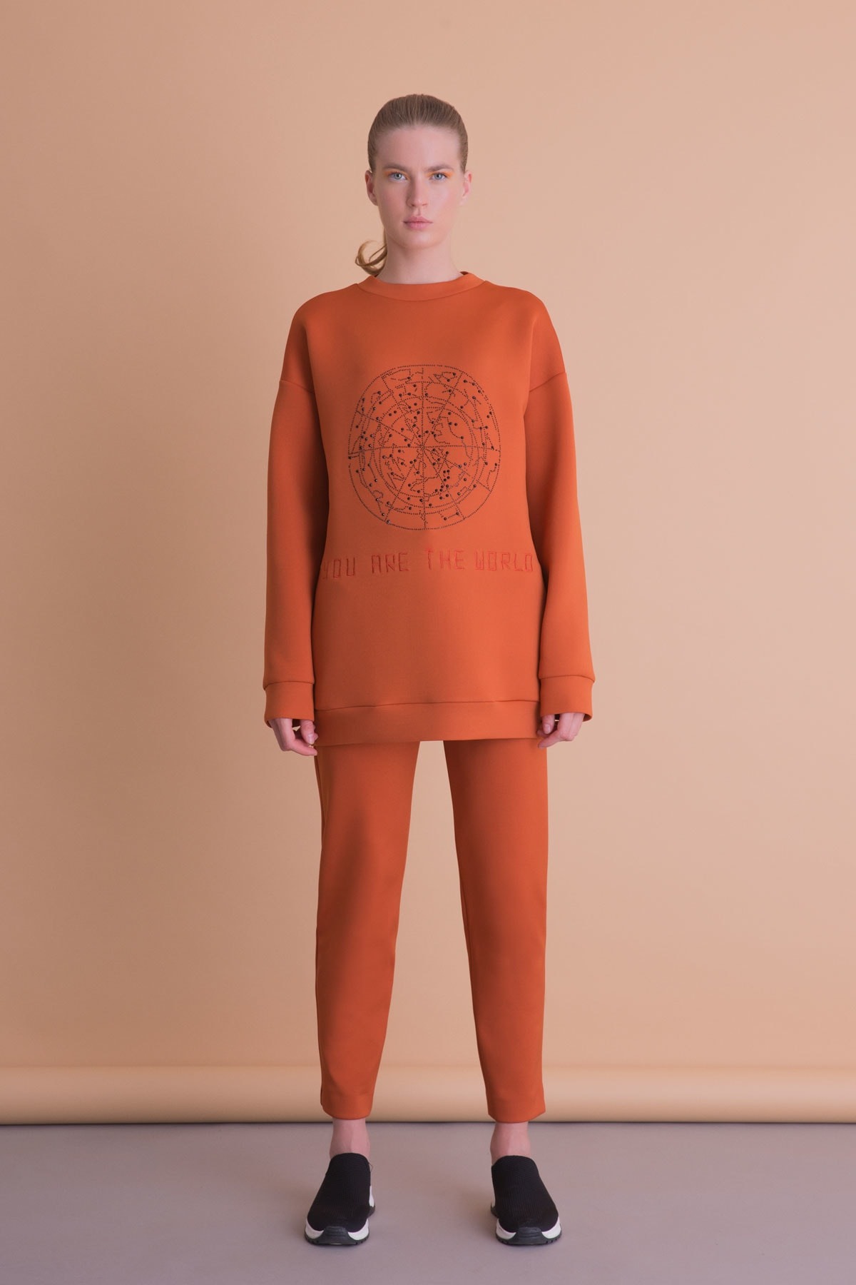 xGIZIA Kadın Turuncu Spor Pantolon 2