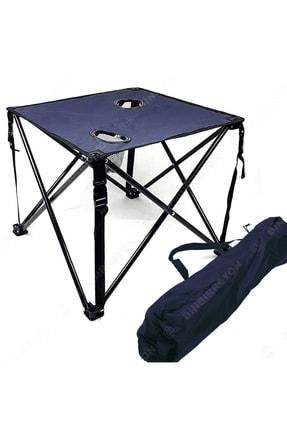 Binbirreyon Çantalı Bardak Gözlü Lacivert Katlanır Kamp Masası 46cmx46cmx38cm Ha042