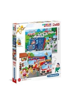 CLEMENTONI Rescue Heros Puzzle 2x60parça