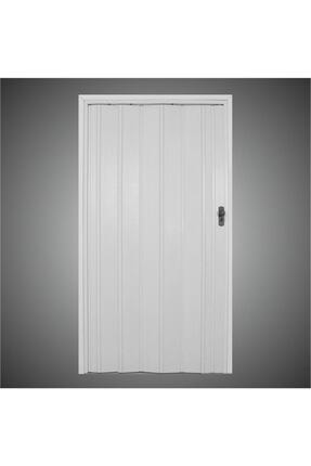 Penguen Beyaz Camsız Akordiyon Katlanır Kapı 12 mm En 102 x 220 cm