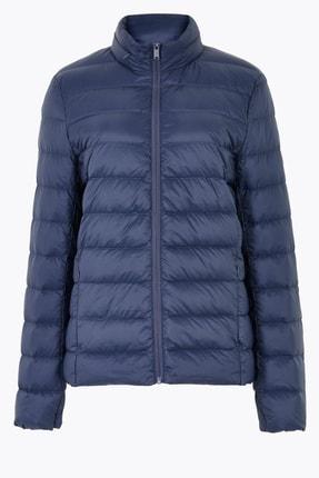 Marks & Spencer Kadın Lacivert Hafif Kaz Tüyü (Down ve Feather) Mont T49004179