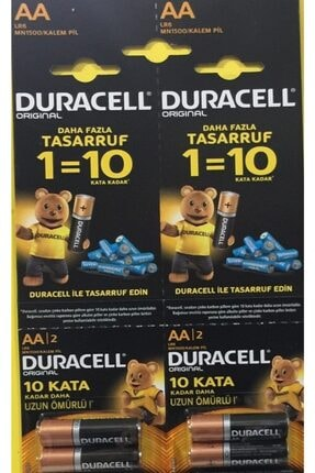 Duracell 12 Adet Alkalin Aa Kalın Kalem Pil (12 Li Kartela Aa Kalın Pil)