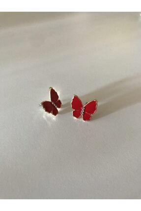 Accessories Kırmızı Kelebek Küpe