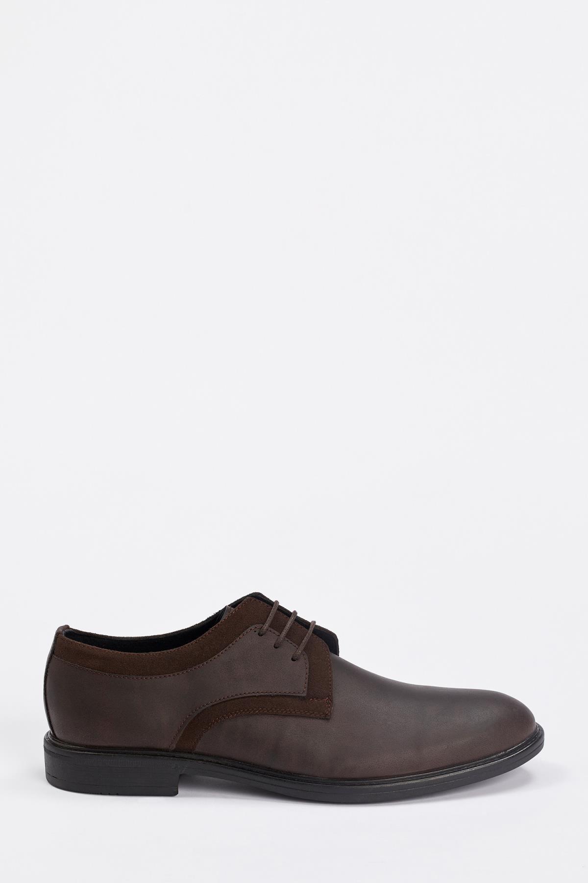 DeFacto Suni Deri Bağcıklı Ayakkabı