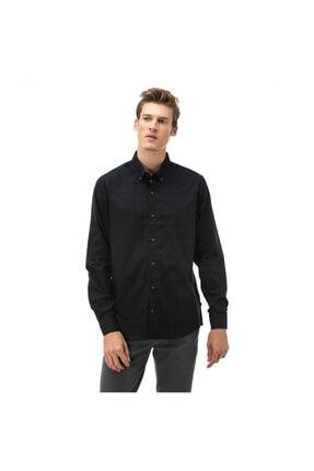Nautica Nautıca Erkek Siyah Slım Fıt Gömlek