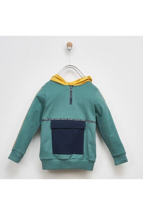 Panço Erkek Çocuk Kapşonlu Sweatshirt 2021BK08008