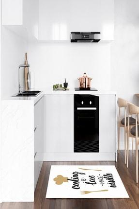 CAPPİO HALI Yazılı Makinada Yıkanabilir Mutfak Halısı - CP378