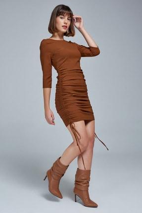 Appleline Yandan Büzgülü Elbise
