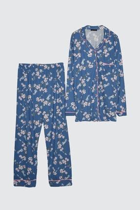 TRENDYOLMİLLA Çiçek Baskılı Örme Pijama Takımı THMAW21PT0439