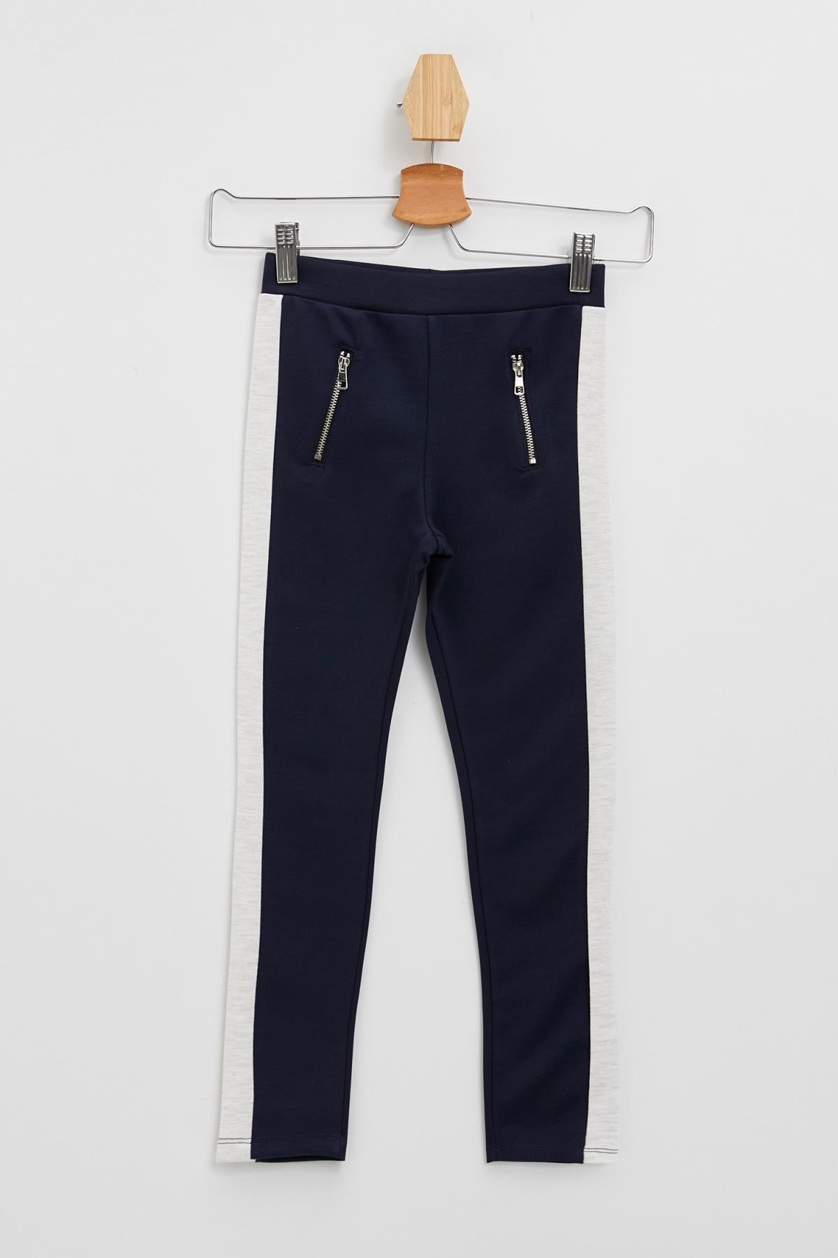 DeFacto Kız Çocuk Slim Fit Renk Bloklu Bilek Boy Tayt