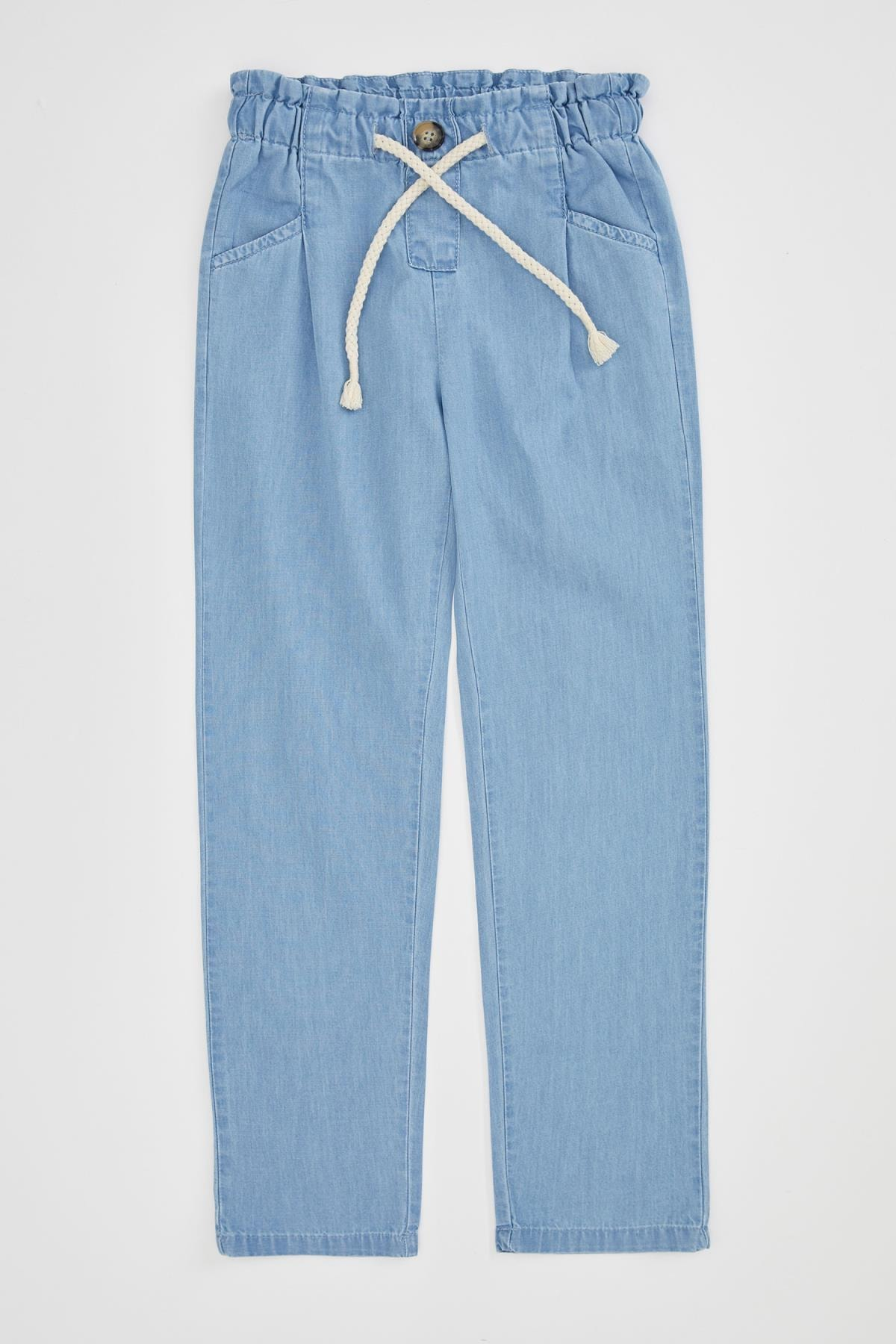 DeFacto Kız Çocuk Mavi Kot Pantolon 1