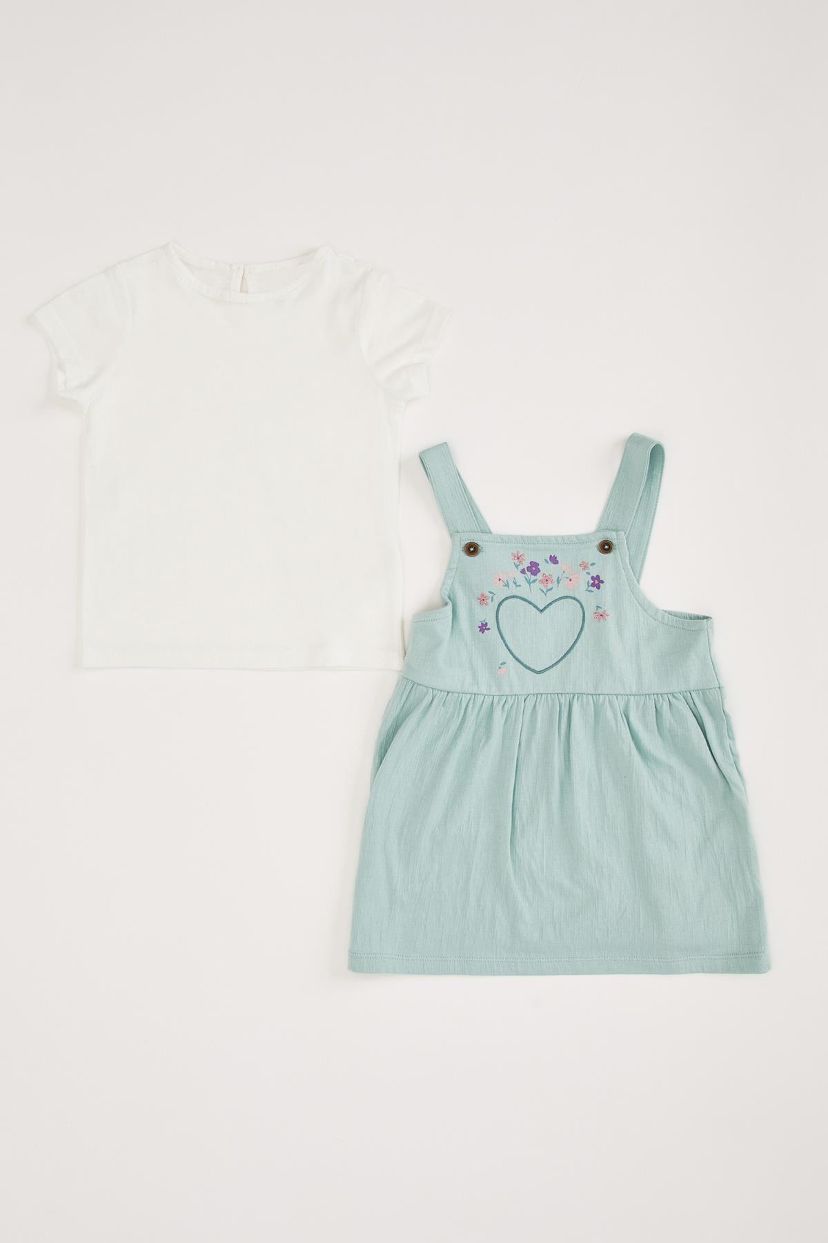 DeFacto Kız Bebek Salopet Tişört Takım