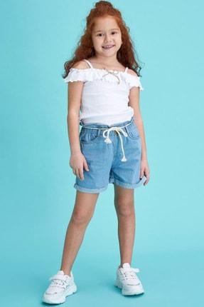 DeFacto Kız Çocuk Mavi Kot Şort & Bermuda