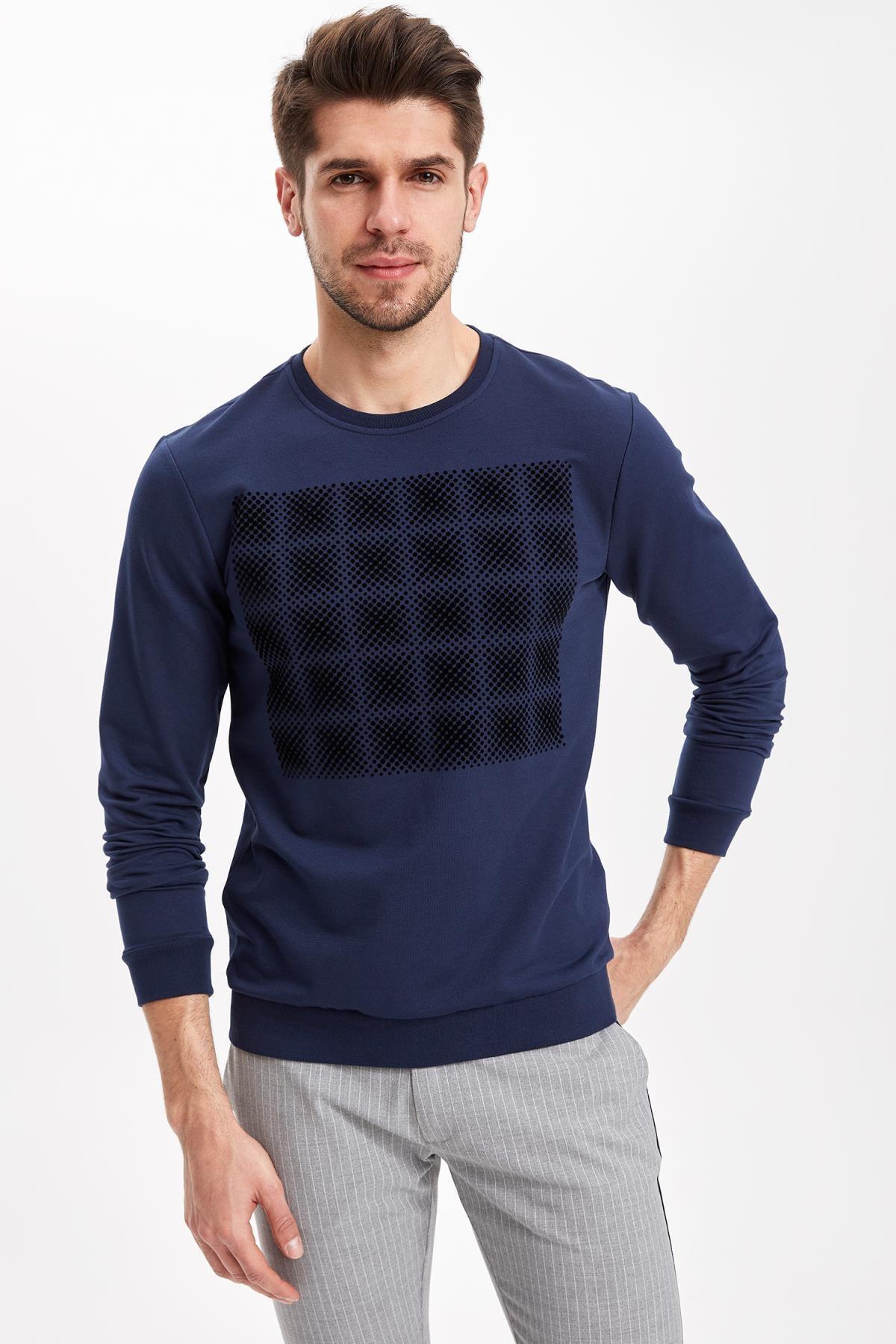 DeFacto Erkek Baskılı Kısa Kollu Tişört