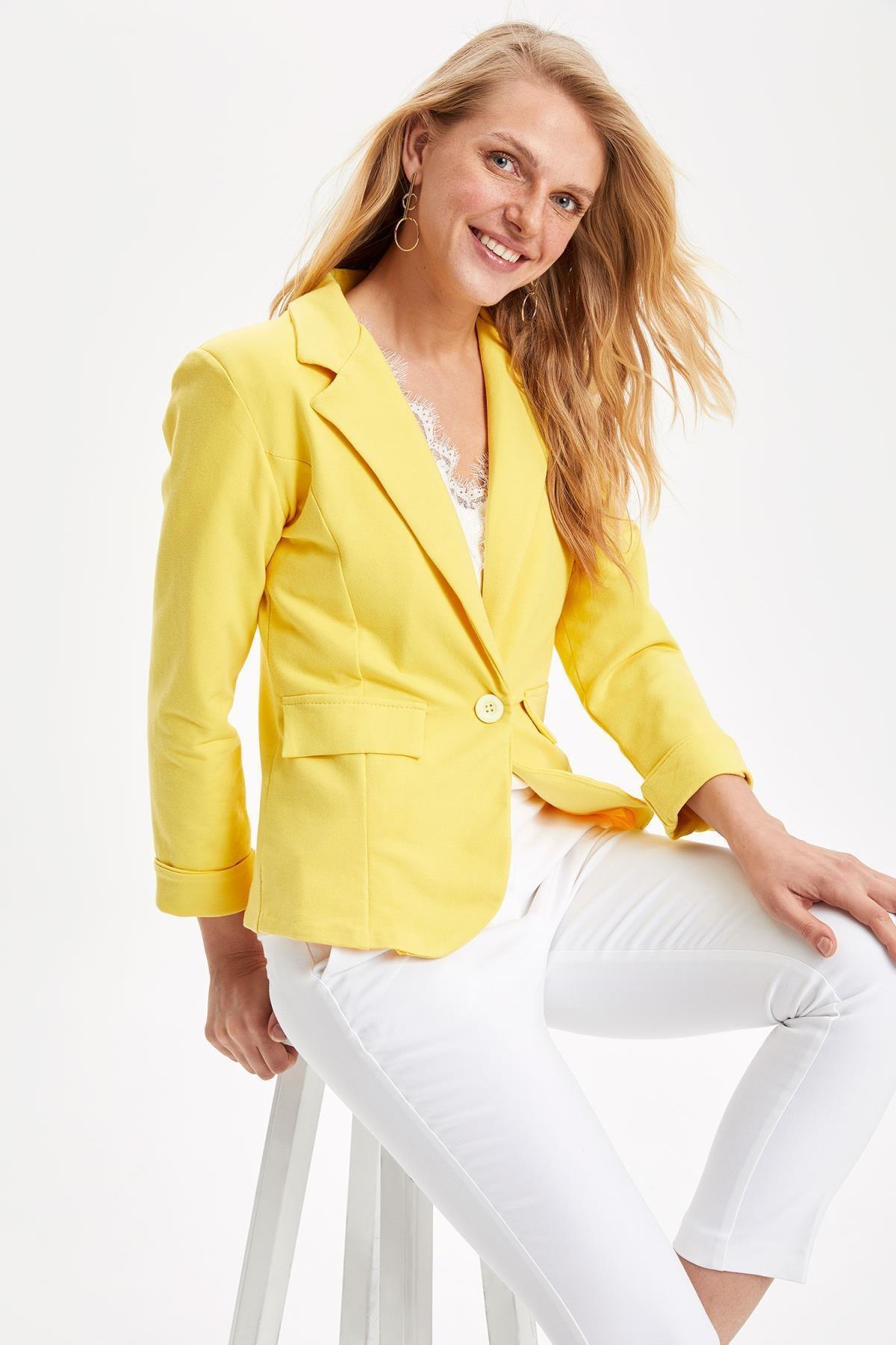 DeFacto Kadın Blazer Ceket L1969AZ19SMYL276