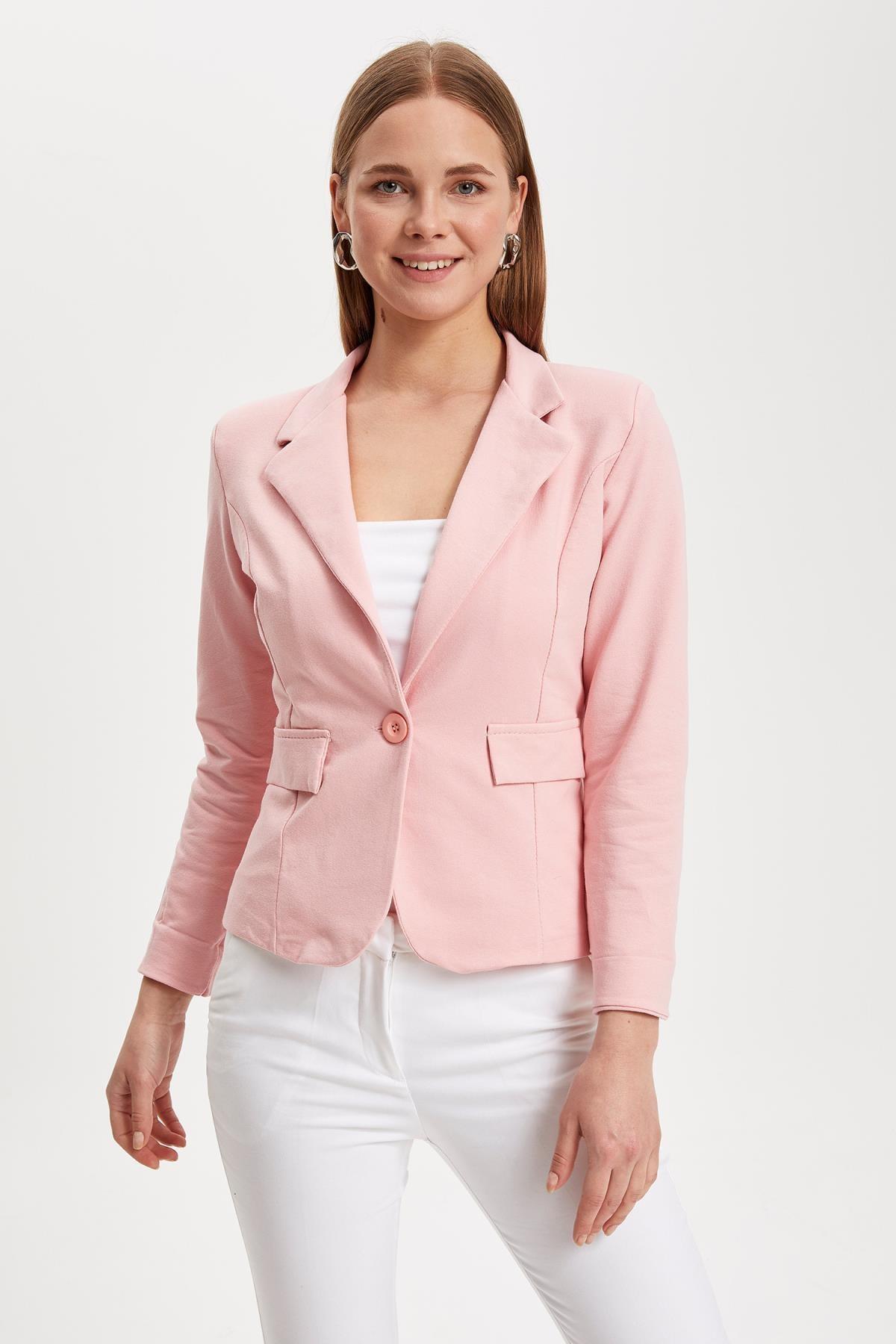 DeFacto Kadın Pembe Blazer Ceket L1969AZ.19SM.PN368