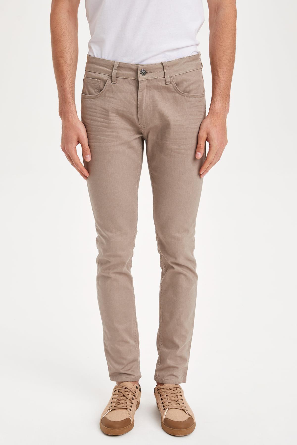 DeFacto Erkek Bej Carlo Skinny Fit Pantolon L3403AZ.19SM.BG151 2