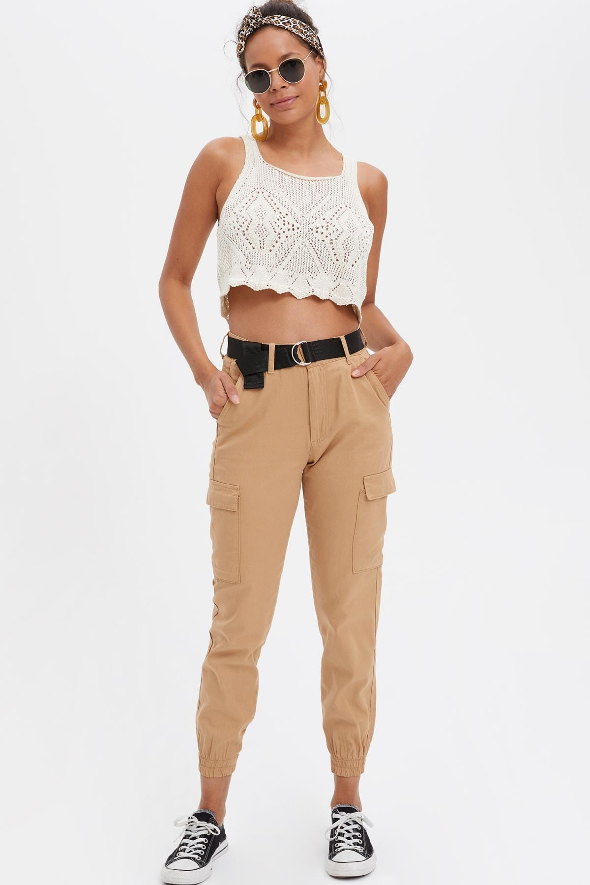 DeFacto Kadın Kahverengi Jogger Pantolon L6284AZ.19SM.BN164 1
