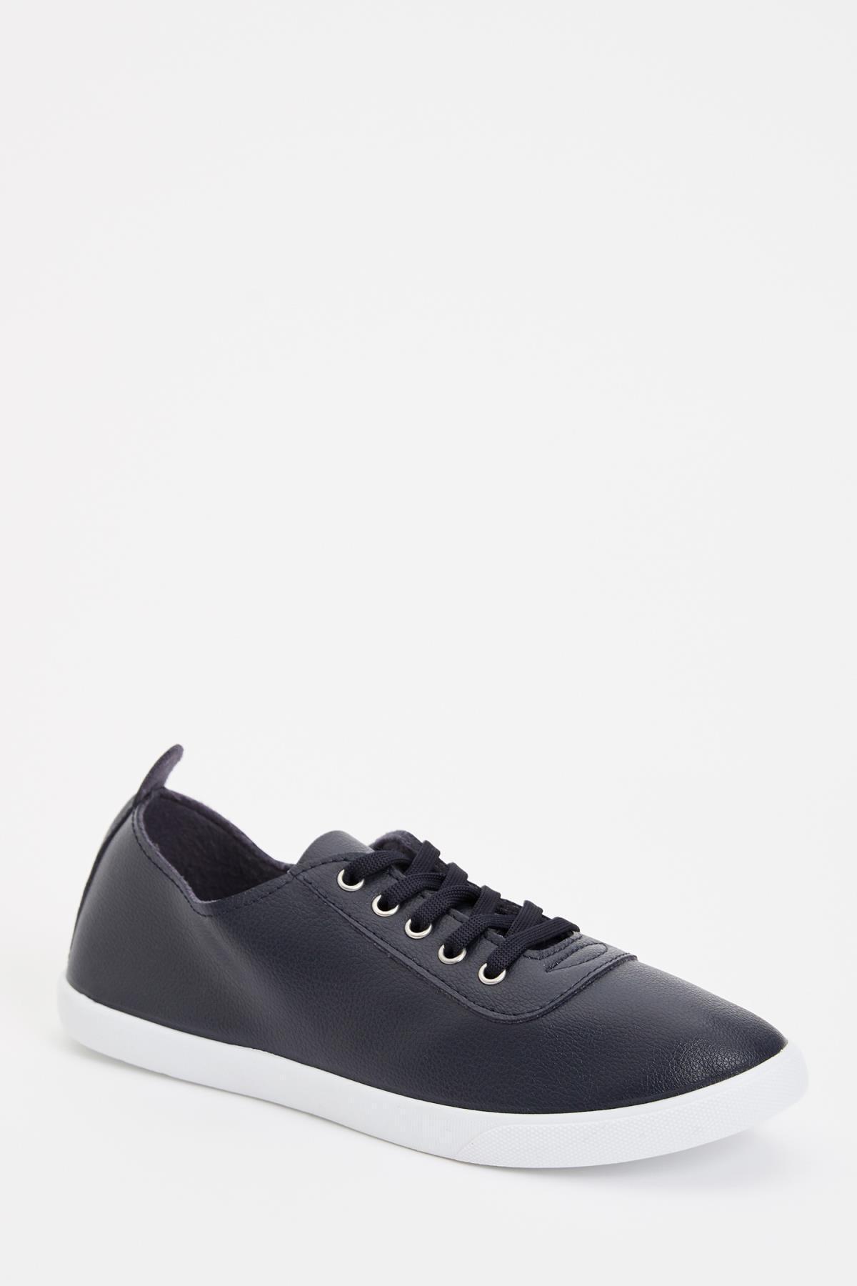 DeFacto Suni Deri Bağcıklı Sneaker Ayakkabı